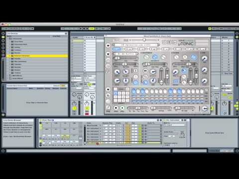 Ableton Tutorial - Microtonic inside a Drum Rack