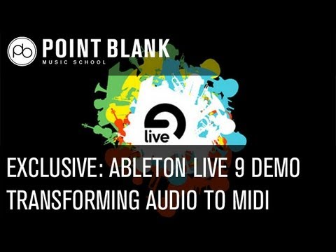 Exclusive Ableton Live 9 Demo - Audio to Midi Feature